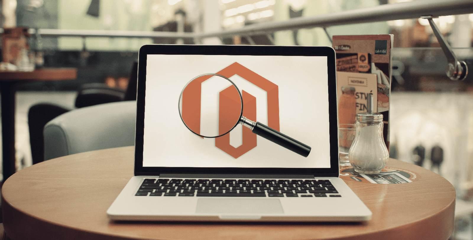 Imagem de tela de computador com 3 dicas práticas de SEO sendo aplicadas ao Magento.