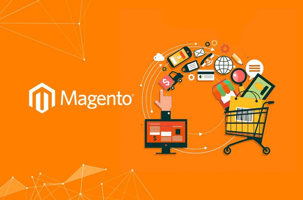 Foto ilustrativa com a logo da Plataforma Magento.