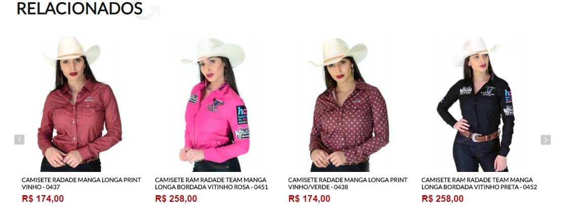 produtos relacionados cowboy store