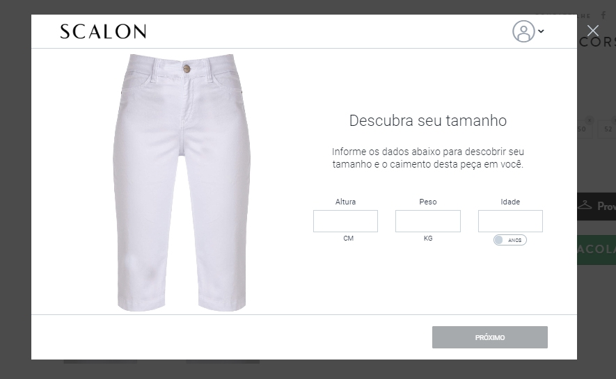 Print da loja Scalon, E-commerce de moda cliente da Bis2Bis