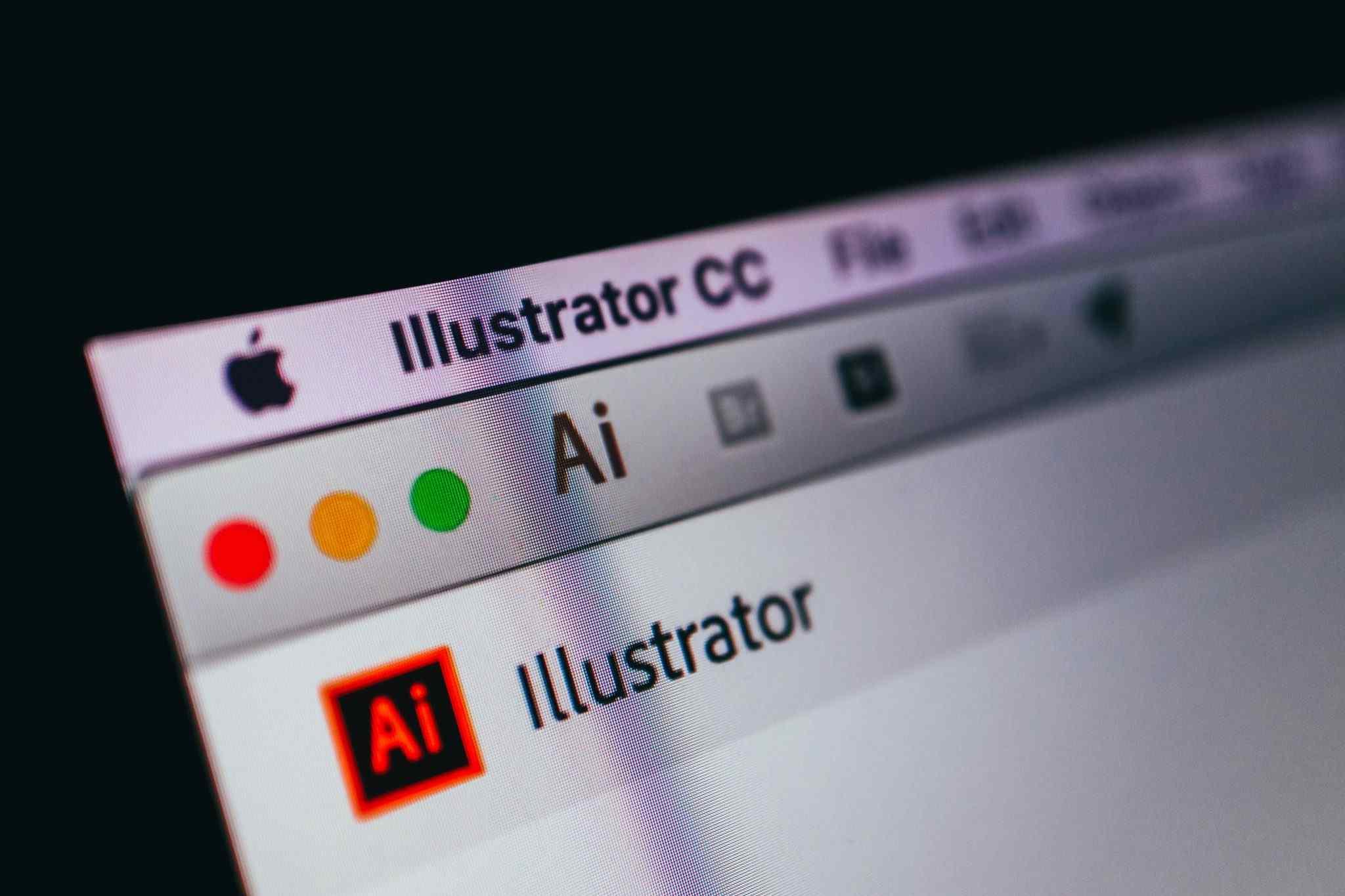 Logo do Illustrator, ferramenta de edição imagens