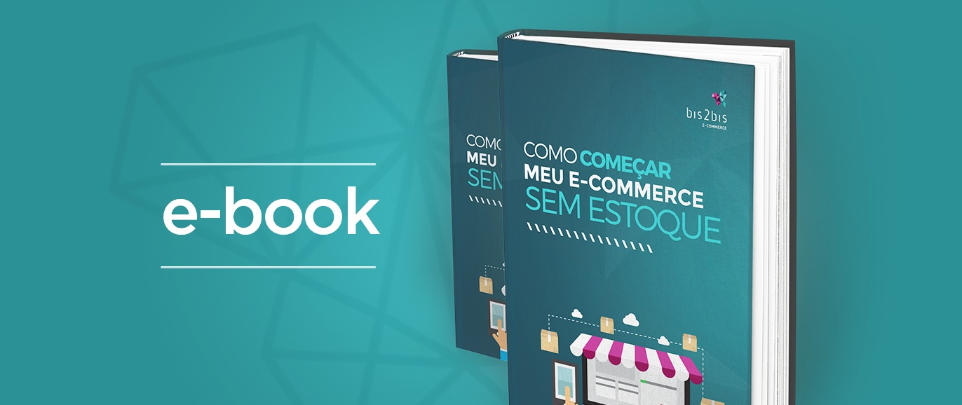 Mock-up do E-book E-commerce sem estoque.
