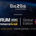Imagem que mostra informações sobre o Fórum E-commerce Brasil, evento de comércio eletrônico.
