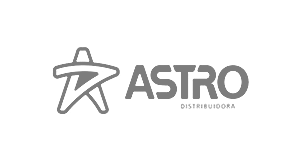 Logotipo da loja virtual Astro Distribuidora, cliente da Bis2Bis, empresa que desenvolve Plataforma de E-commerce Magento