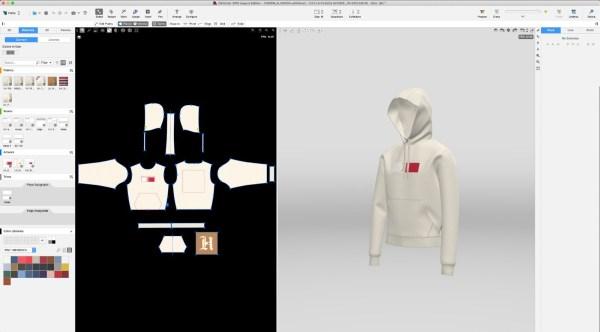 O design digital 3D é uma grande tendência do e-commerce para 2021. A imagem mostra o processo de desenvolvimento do design digital 3D de uma peça de roupa da marca Tommy Hilfiger - DIVULGAÇÃO/TOMMY HILFIGER