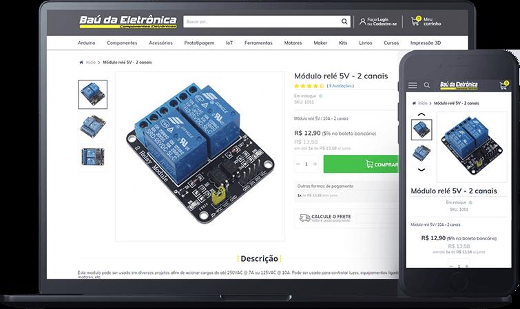 Baú da Eletrônica, case de sucesso Bis2Bis E-commerce