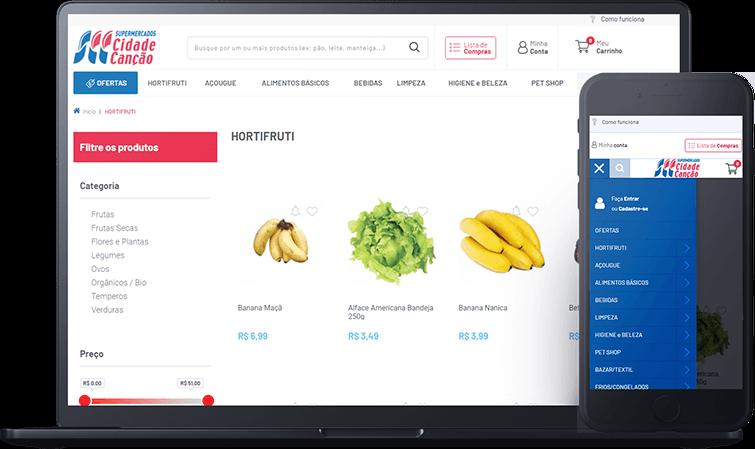 Supermercado cidade Canção, case de sucesso Bis2Bis E-commerce