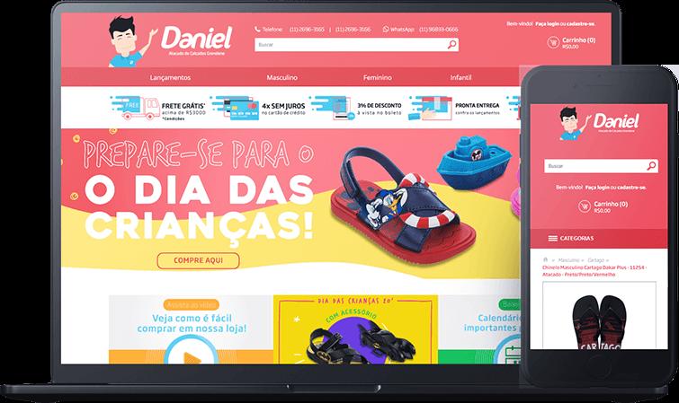 Loja virtual Daniel Atacado, case de sucesso Bis2bis E-commerce