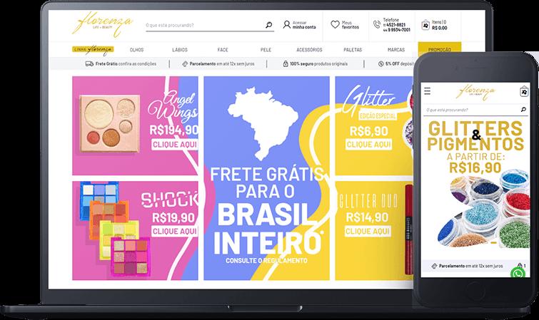 Loja Virtual Florenza, case de sucesso Bis2Bis E-commerce