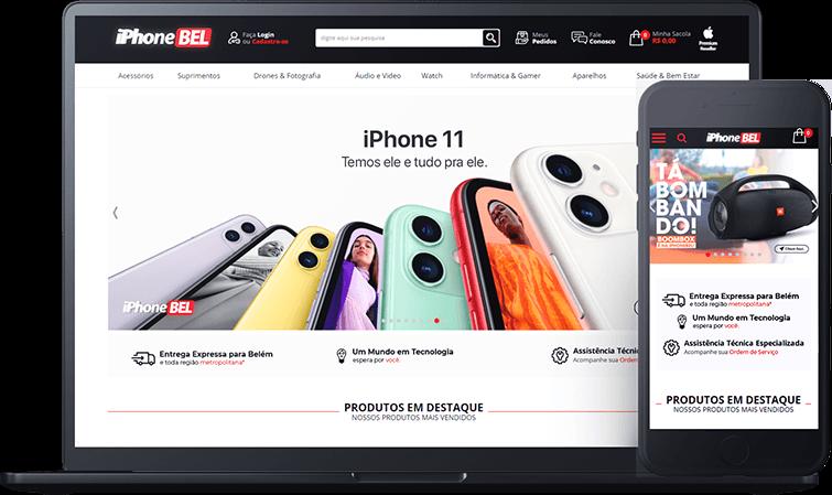 Loja Virtual IphoneBEL, case de sucesso Bis2Bis E-commerce