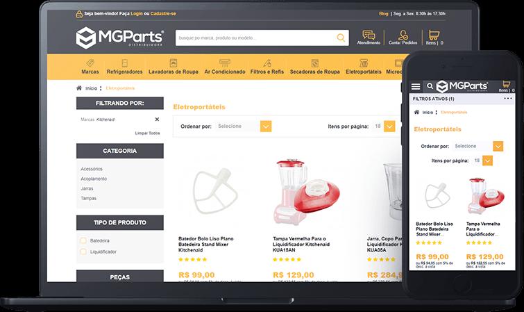 E-commerce da MGParts, case de sucesso Bis2Bis E-commerce