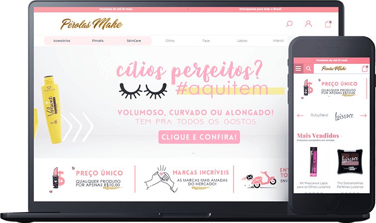 Pérolas Make, case de sucesso Bis2Bis E-commerce